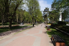 Skwer i ścieżka rowerowa